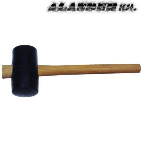 Gumi kalapács, fa nyéllel. 75mm