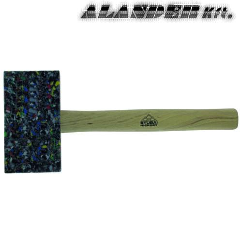 Bádogos műanyag kalapács tarka szögletes 155x85x35mm